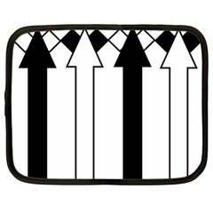 Funny Black and White Stripes Diamonds Arrows Netbook Case (Large)