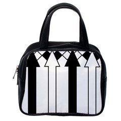 Funny Black and White Stripes Diamonds Arrows Classic Handbags (One Side)
