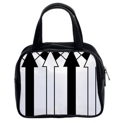 Funny Black and White Stripes Diamonds Arrows Classic Handbags (2 Sides)