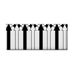 Funny Black and White Stripes Diamonds Arrows Hand Towel