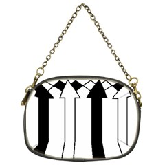 Funny Black and White Stripes Diamonds Arrows Chain Purses (One Side)