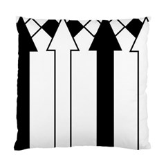 Funny Black and White Stripes Diamonds Arrows Standard Cushion Case (Two Sides)