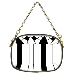 Funny Black and White Stripes Diamonds Arrows Chain Purses (Two Sides)