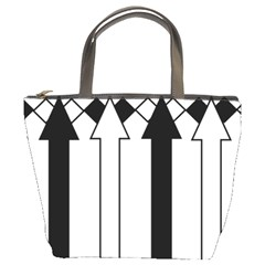 Funny Black and White Stripes Diamonds Arrows Bucket Bags
