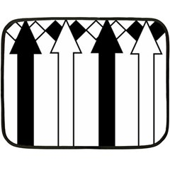 Funny Black and White Stripes Diamonds Arrows Fleece Blanket (Mini)