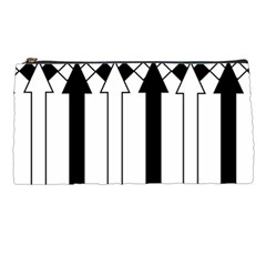 Funny Black and White Stripes Diamonds Arrows Pencil Cases