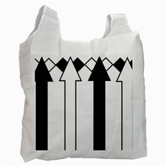 Funny Black and White Stripes Diamonds Arrows Recycle Bag (Two Side)