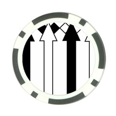 Funny Black and White Stripes Diamonds Arrows Poker Chip Card Guards (10 pack)