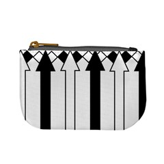 Funny Black and White Stripes Diamonds Arrows Mini Coin Purses