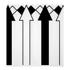 Funny Black and White Stripes Diamonds Arrows Shower Curtain 66  x 72  (Large)