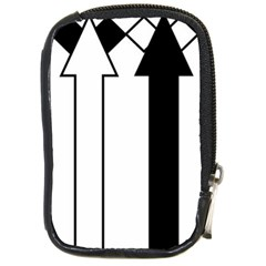 Funny Black and White Stripes Diamonds Arrows Compact Camera Cases
