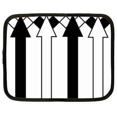 Funny Black and White Stripes Diamonds Arrows Netbook Case (XL)