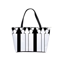 Funny Black and White Stripes Diamonds Arrows Shoulder Handbags