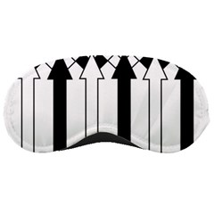 Funny Black and White Stripes Diamonds Arrows Sleeping Masks