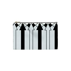 Funny Black and White Stripes Diamonds Arrows Cosmetic Bag (Small)