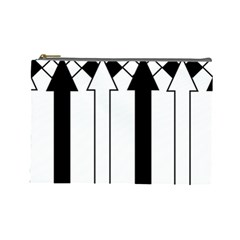 Funny Black and White Stripes Diamonds Arrows Cosmetic Bag (Large)