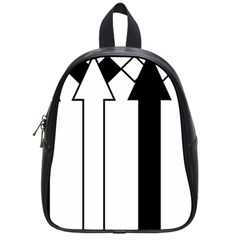 Funny Black and White Stripes Diamonds Arrows School Bags (Small)