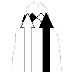 Funny Black and White Stripes Diamonds Arrows Full Print Aprons