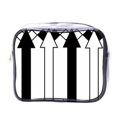 Funny Black and White Stripes Diamonds Arrows Mini Toiletries Bags