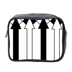 Funny Black and White Stripes Diamonds Arrows Mini Toiletries Bag 2-Side