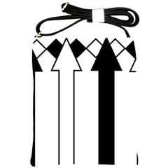 Funny Black and White Stripes Diamonds Arrows Shoulder Sling Bags