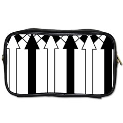 Funny Black and White Stripes Diamonds Arrows Toiletries Bags 2-Side