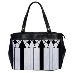 Funny Black and White Stripes Diamonds Arrows Office Handbags