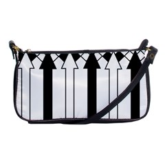 Funny Black and White Stripes Diamonds Arrows Shoulder Clutch Bags