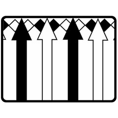 Funny Black and White Stripes Diamonds Arrows Fleece Blanket (Large)