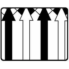 Funny Black and White Stripes Diamonds Arrows Fleece Blanket (Medium)