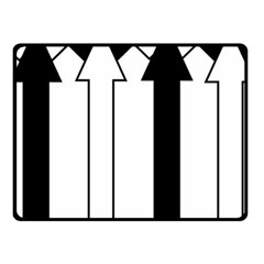 Funny Black and White Stripes Diamonds Arrows Fleece Blanket (Small)