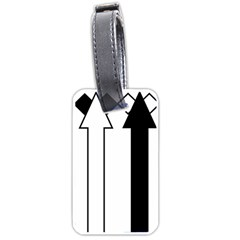 Funny Black and White Stripes Diamonds Arrows Luggage Tags (Two Sides)