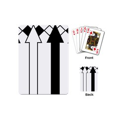 Funny Black and White Stripes Diamonds Arrows Playing Cards (Mini)