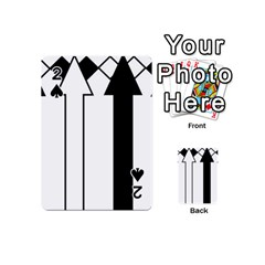 Funny Black and White Stripes Diamonds Arrows Playing Cards 54 (Mini)