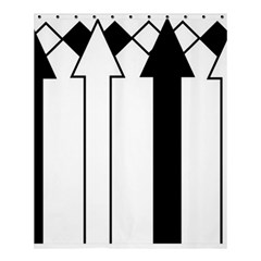 Funny Black and White Stripes Diamonds Arrows Shower Curtain 60  x 72  (Medium)