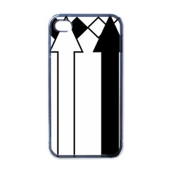 Funny Black and White Stripes Diamonds Arrows Apple iPhone 4 Case (Black)