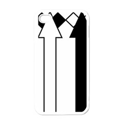 Funny Black and White Stripes Diamonds Arrows Apple iPhone 4 Case (White)