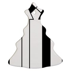 Funny Black and White Stripes Diamonds Arrows Ornament (Christmas Tree)