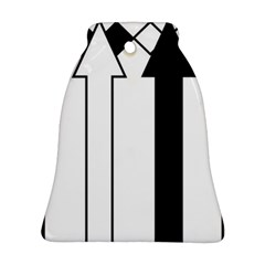 Funny Black and White Stripes Diamonds Arrows Ornament (Bell)