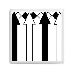 Funny Black and White Stripes Diamonds Arrows Memory Card Reader (Square)