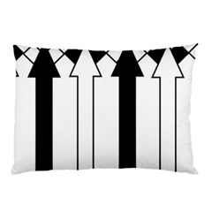 Funny Black and White Stripes Diamonds Arrows Pillow Case (Two Sides)