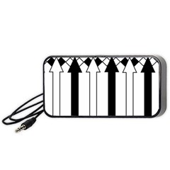 Funny Black and White Stripes Diamonds Arrows Portable Speaker (Black)