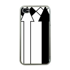 Funny Black and White Stripes Diamonds Arrows Apple iPhone 4 Case (Clear)