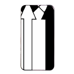Funny Black and White Stripes Diamonds Arrows Apple iPhone 4/4s Seamless Case (Black)