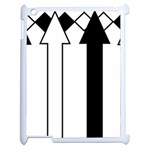 Funny Black and White Stripes Diamonds Arrows Apple iPad 2 Case (White) Front