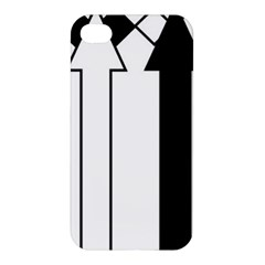 Funny Black and White Stripes Diamonds Arrows Apple iPhone 4/4S Hardshell Case