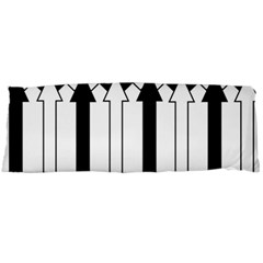 Funny Black and White Stripes Diamonds Arrows Body Pillow Case Dakimakura (Two Sides)