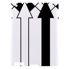 Funny Black and White Stripes Diamonds Arrows Apple iPad 3/4 Hardshell Case