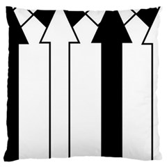 Funny Black and White Stripes Diamonds Arrows Large Cushion Case (Two Sides)