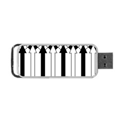 Funny Black and White Stripes Diamonds Arrows Portable USB Flash (Two Sides)